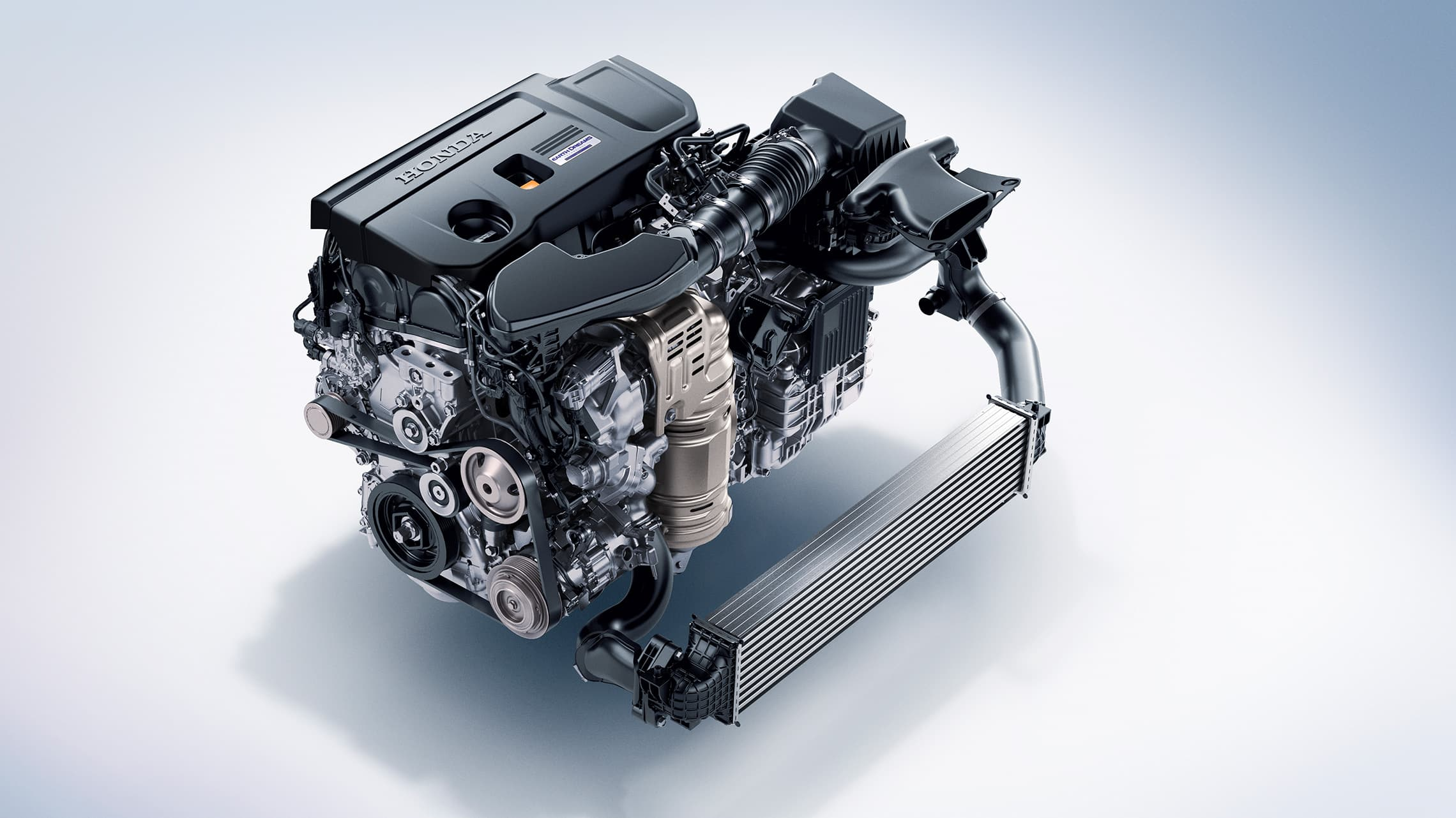 2.0-liter turbocharged engine detail on the 2020 Honda Accord.